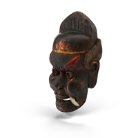 Asian Tribal Mask Object