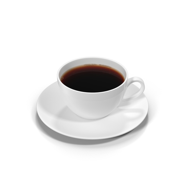 Full White Coffee Cup  Object