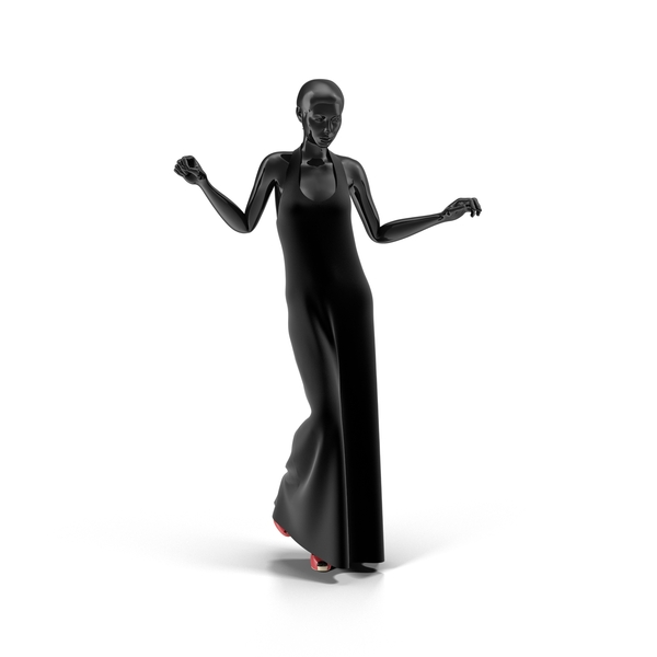 Showroom Mannequin With Long Dress Object