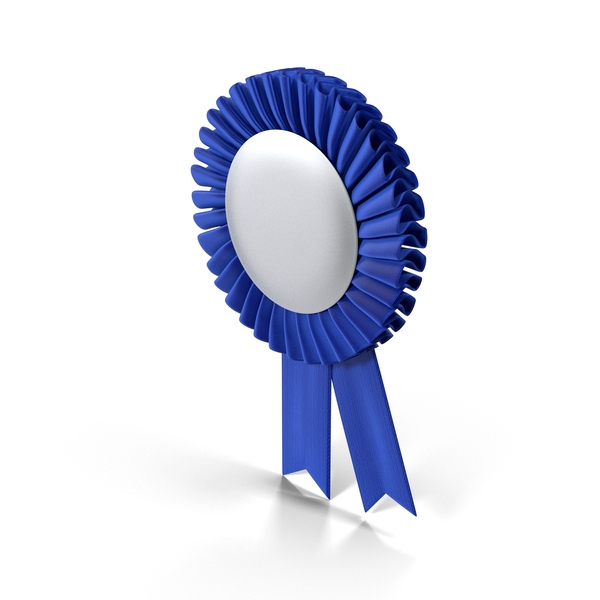 Blue Award Ribbons Object