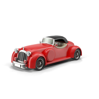 Cartoon Vintage Car Object