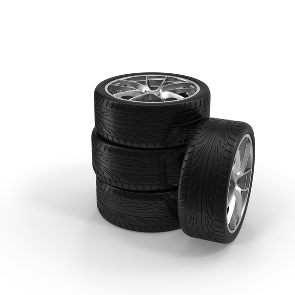Car Tire Stack Object