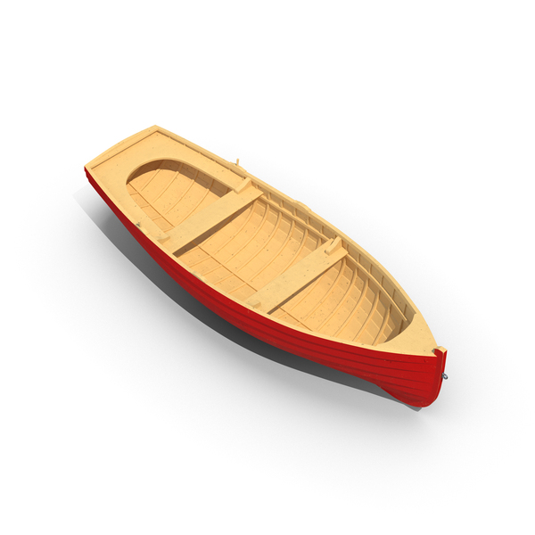 Wooden Rowboat Object
