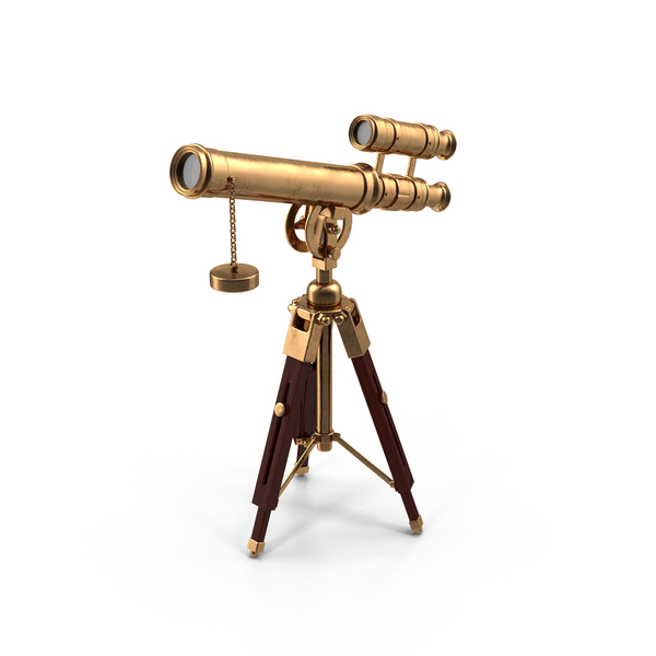 Cartoon Antique Telescope Object