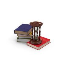 Books and Hourglass Object