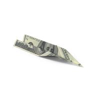 100 Dollar Bill Paper Airplane Object