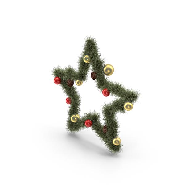 Christmas Star Wreath Object