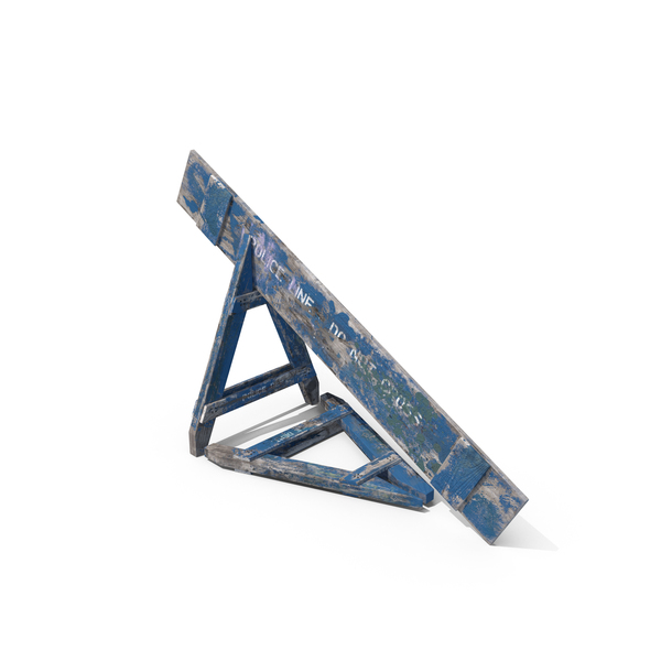 Destroyed Police Crowd Barrier Object