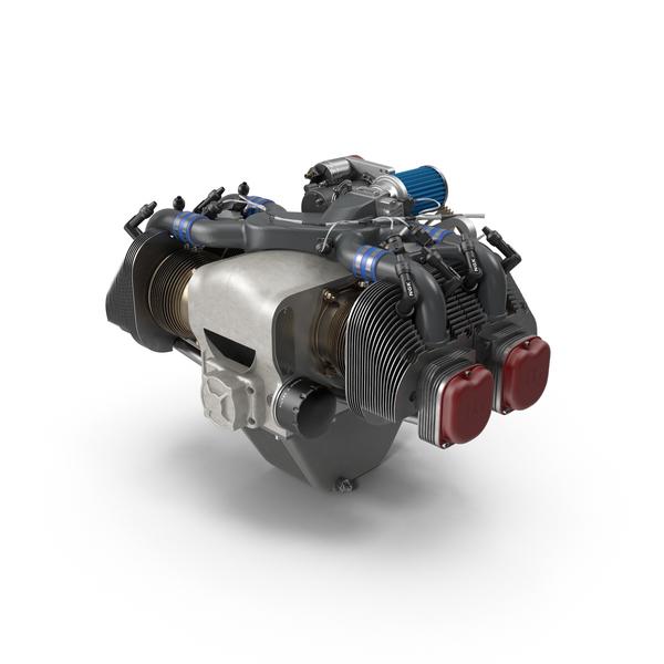 Piston Aircraft Engine Object
