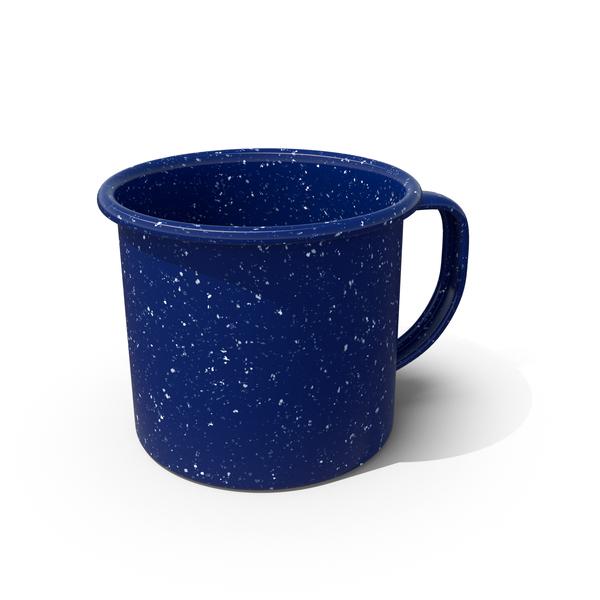 Blue Enamel Mug Object