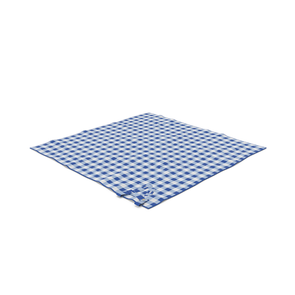 Blue Picnic Blanket Object