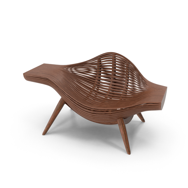 Wood Basket Chair Object