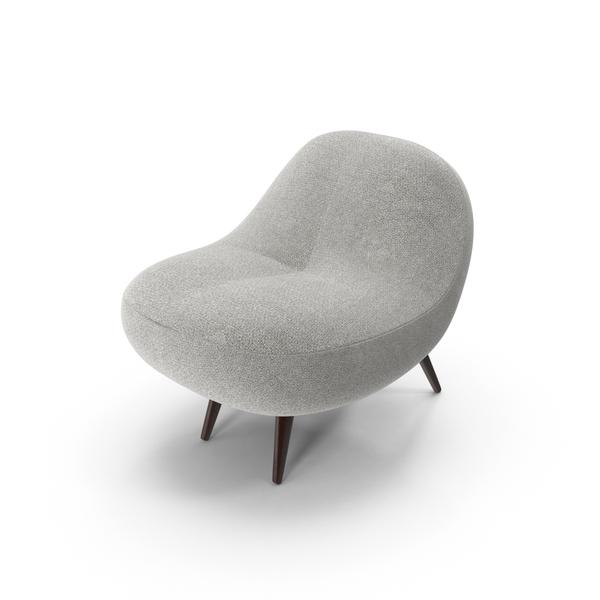 Gray Super Plush Chair Object