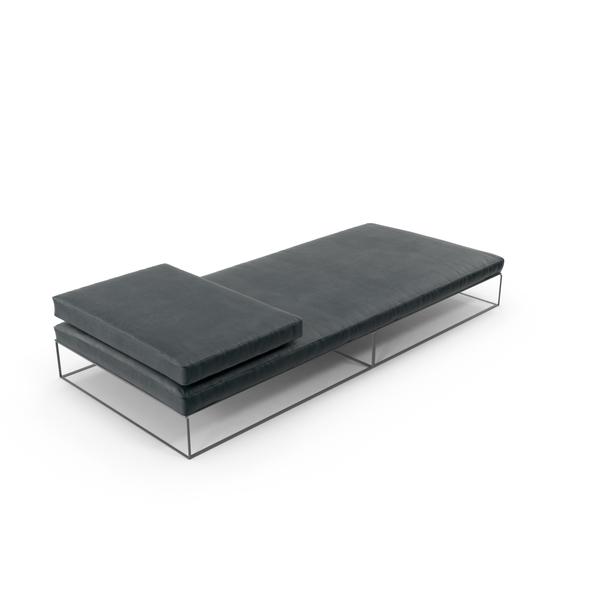 Flat Fabric Sofa Object
