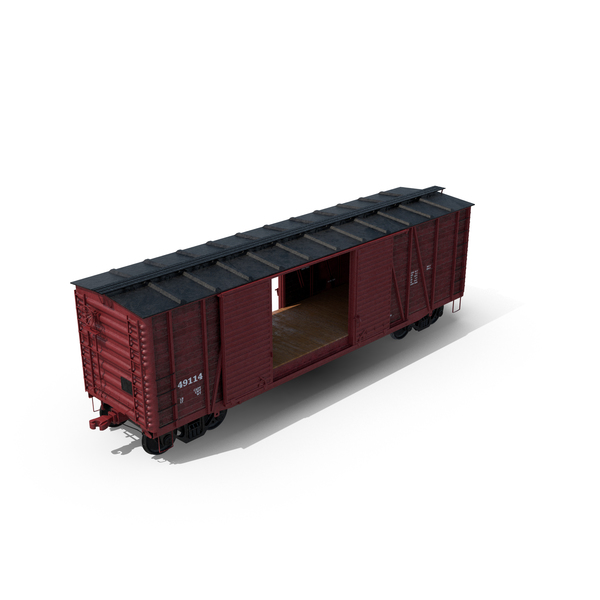 Freight Train Boxcar Object