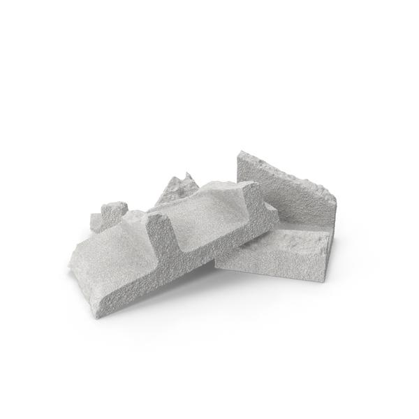 Cinder Blocks Broken Object