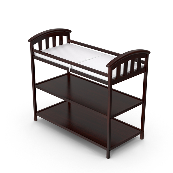 Brown Changing Table Object