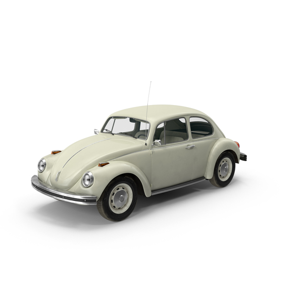 Volkswagen Beetle 1966 White Object