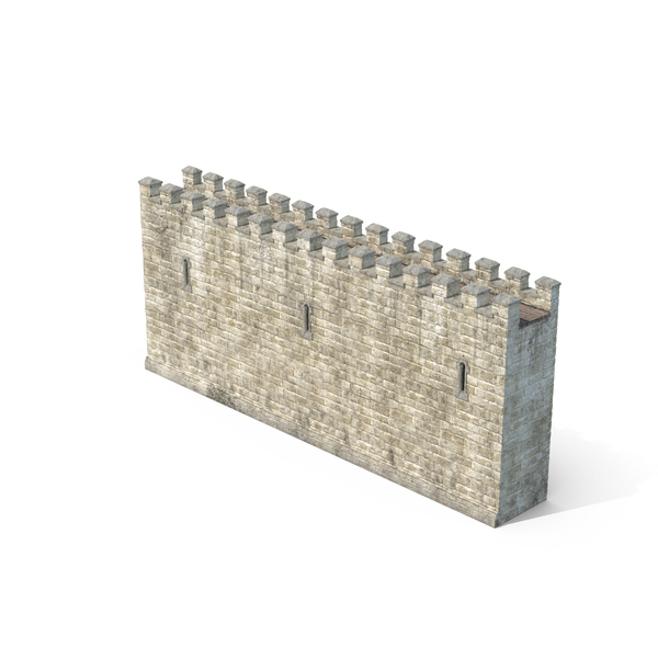 Castle Wall Section Object