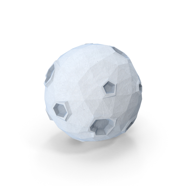 Low Poly Moon Object