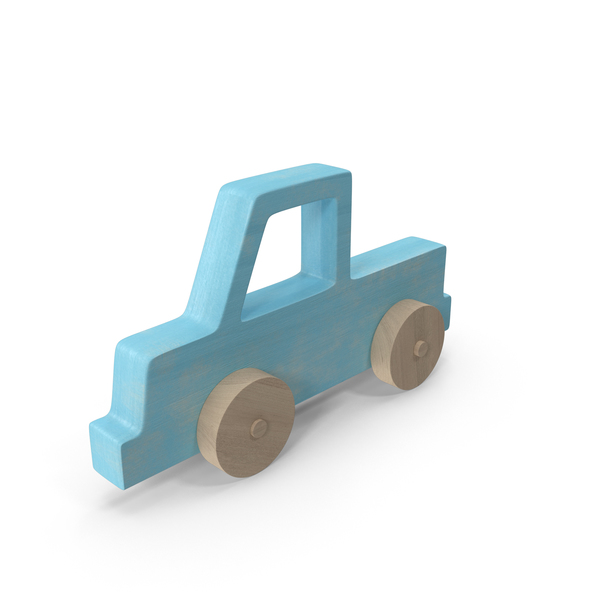 Baby Wooden Car Blue Object