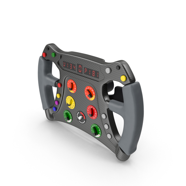 Formula One Car Style Steering Wheel Object