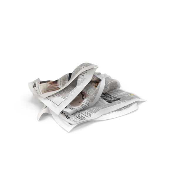 Newspaper Litter Object