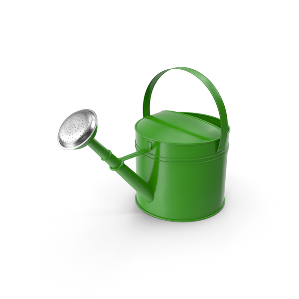 Green Watering Can Object