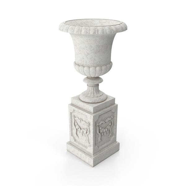 Stone Pedestal Outdoor Urn Object