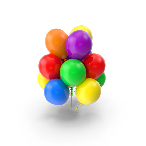 Multicolor Balloons Object