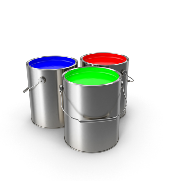 Paint Cans RGB Object