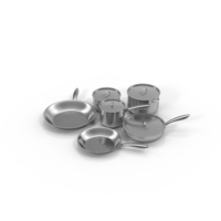 Stainless Steel Kitchen Cookware Set Object