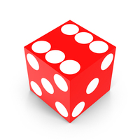 Red Casino Die Object